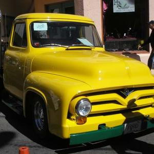 OLD YELLOW - TRUCK or CAR  1930's to 1950's ONLY FULL VIEW Art Competition