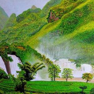 Waterfalls Paintings Art Competition